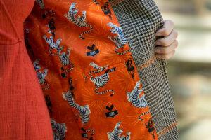 Reunion Jacket Detail - orange lining